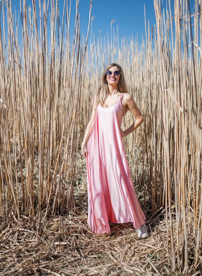 Satin Dress Pink