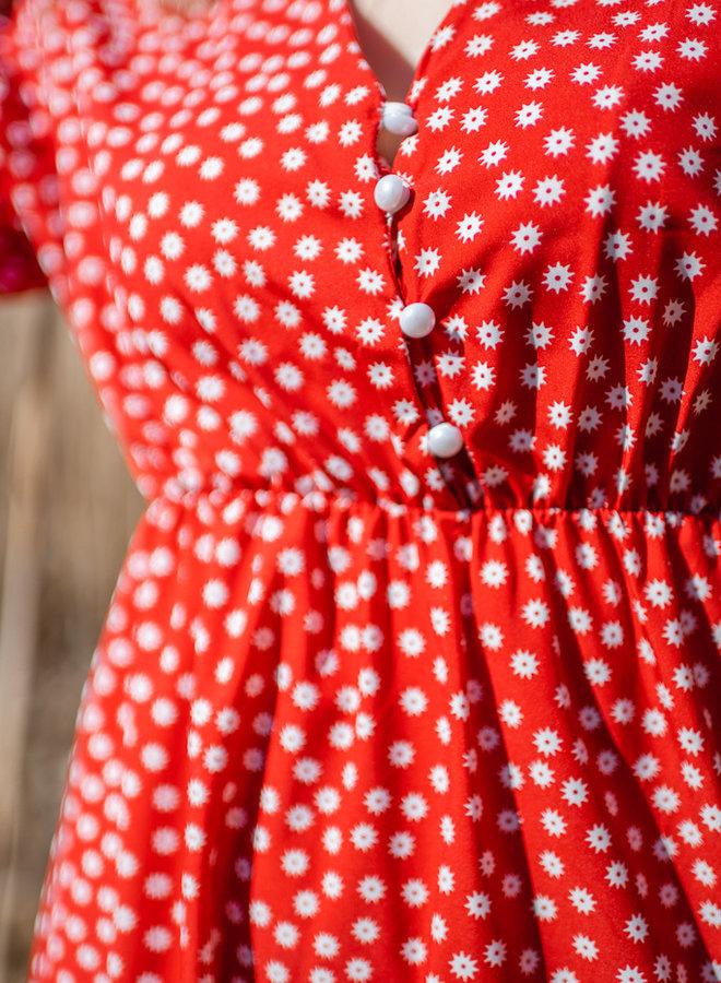 Red Dress With Split