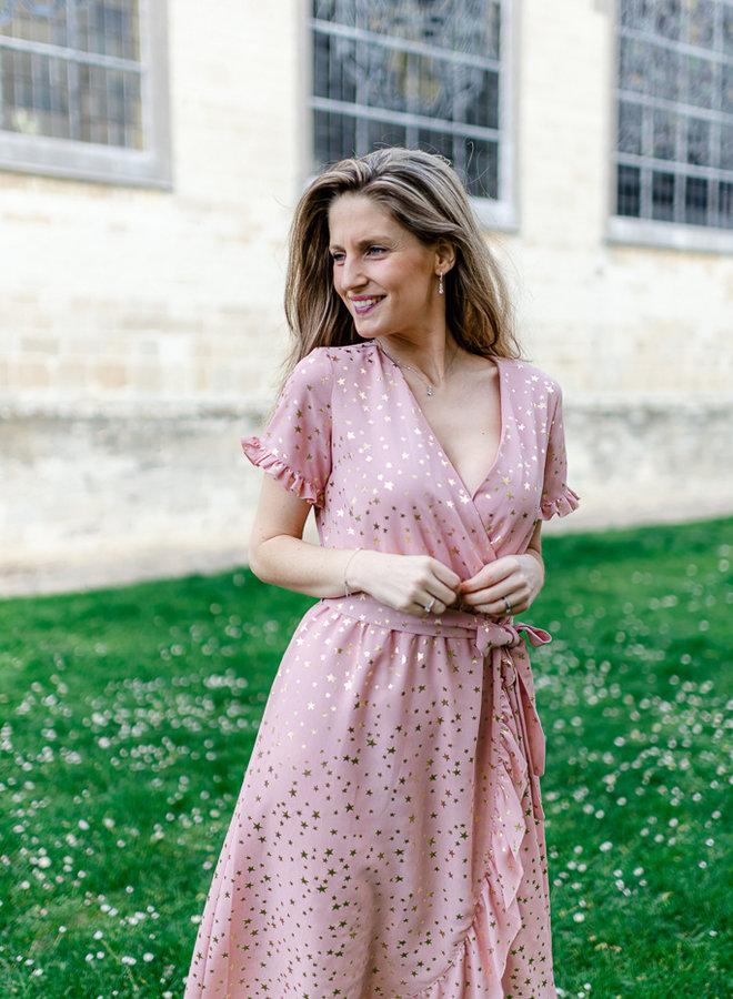 Shooting Stars Dress Pink