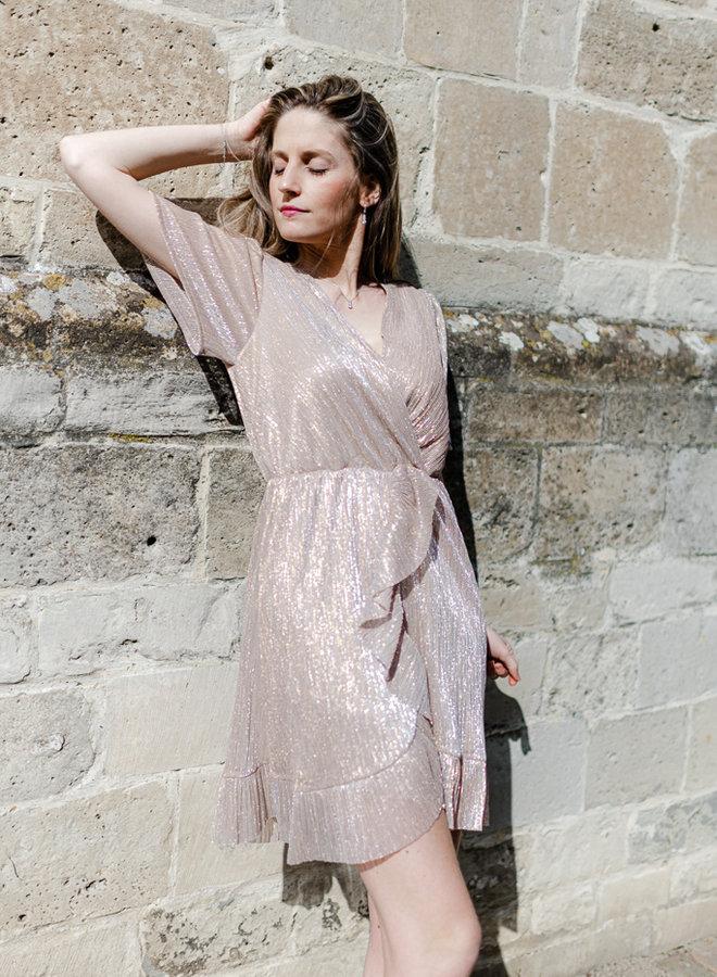 Sparkling Dress Rosé Gold