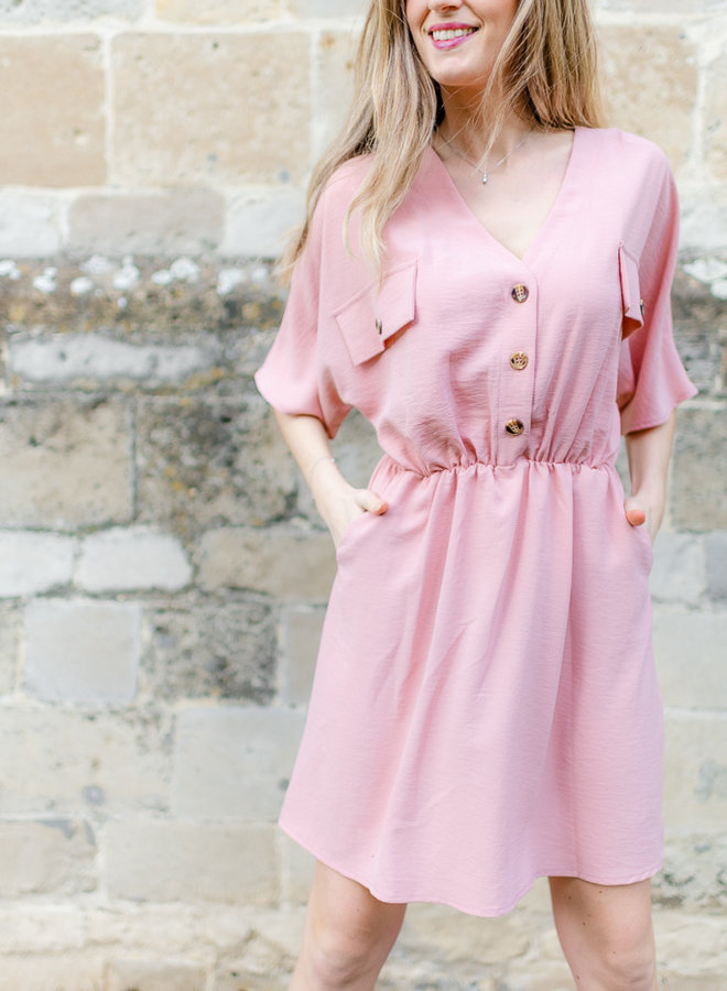 Button Dress Pink
