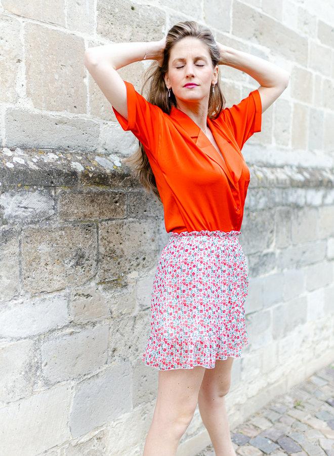 Flower Skirt Red
