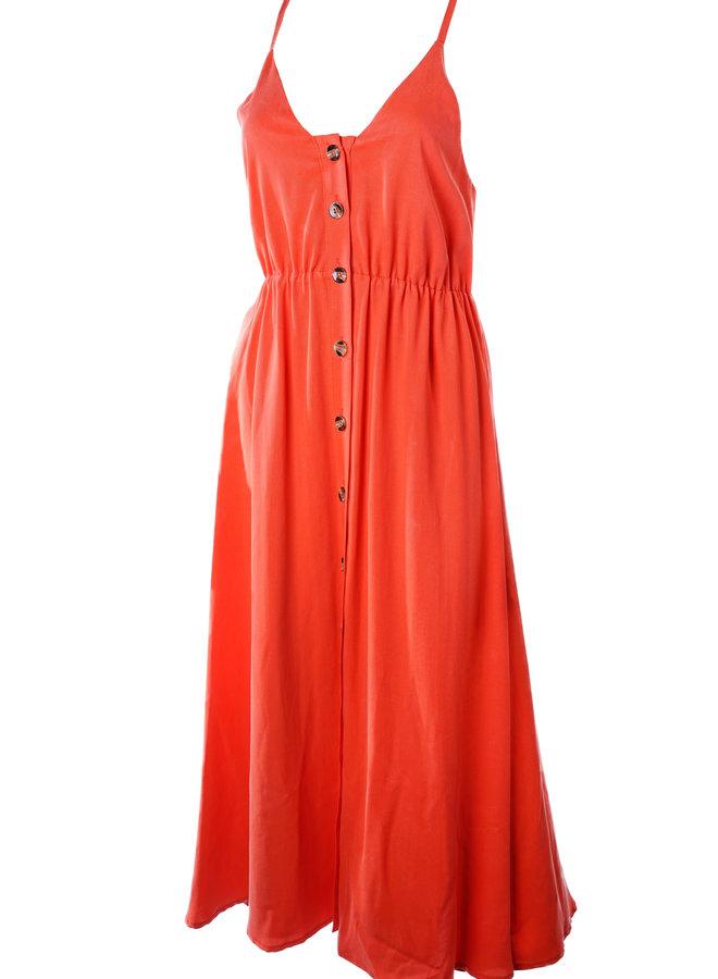 Long Red Summer Dress