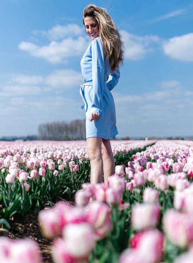 Ruffle Dress Blue