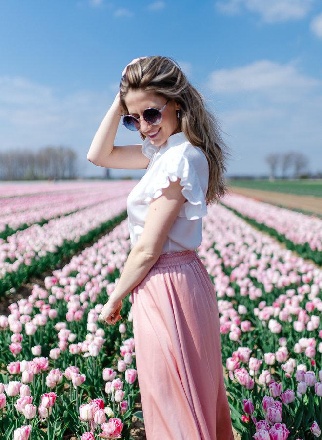 Long Flowy Skirt Pink