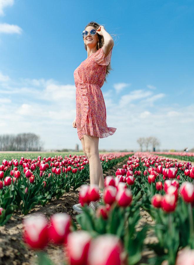 Flower Dress Red