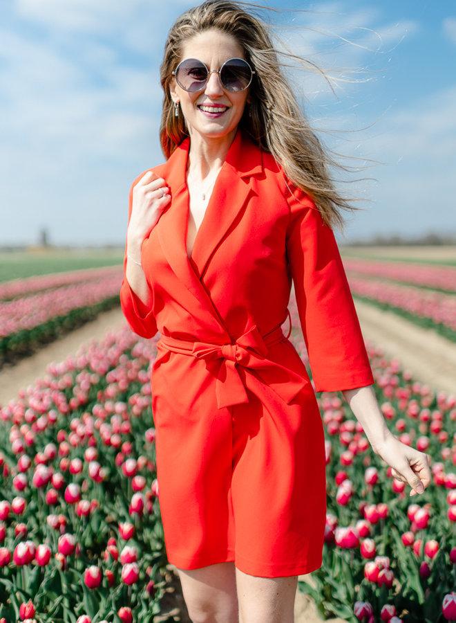 Blazer Dress Red
