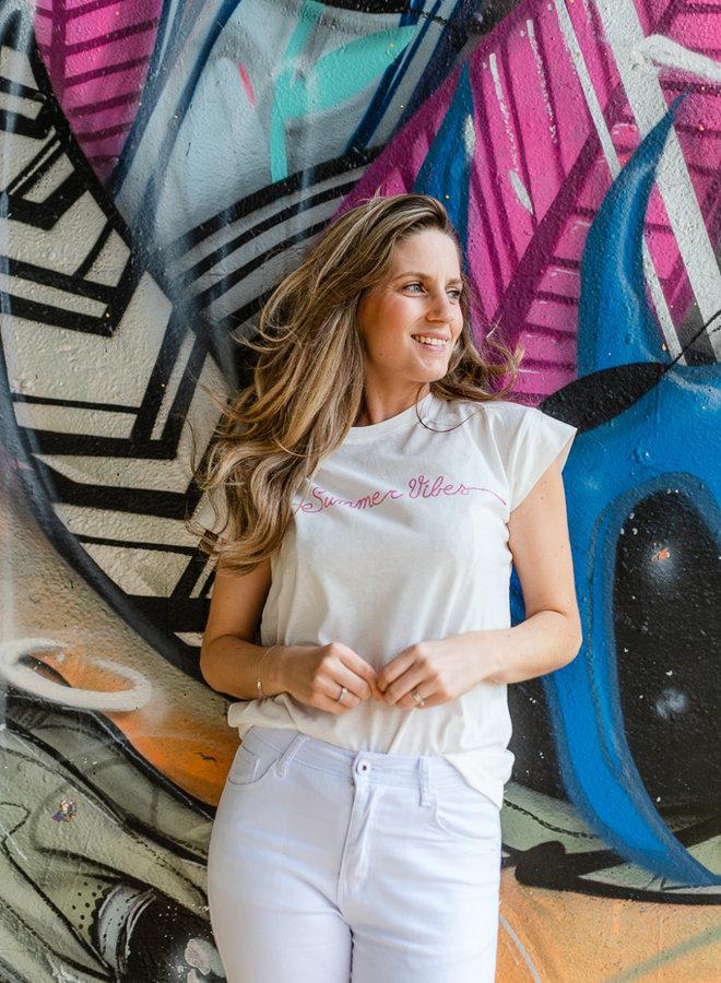 'Summer Vibes' Shirt Pink