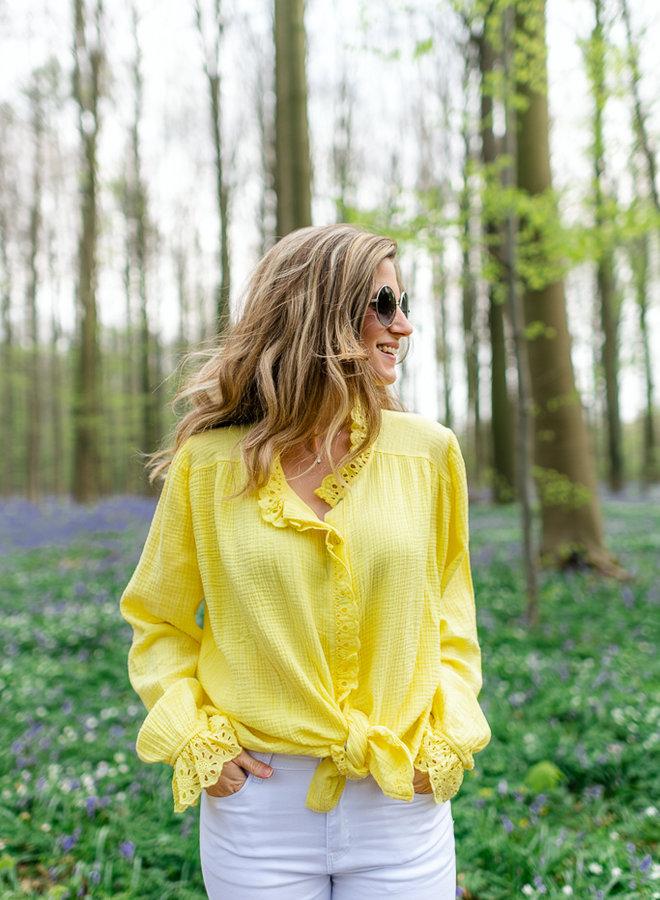 Tetra Ruffle Shirt Yellow