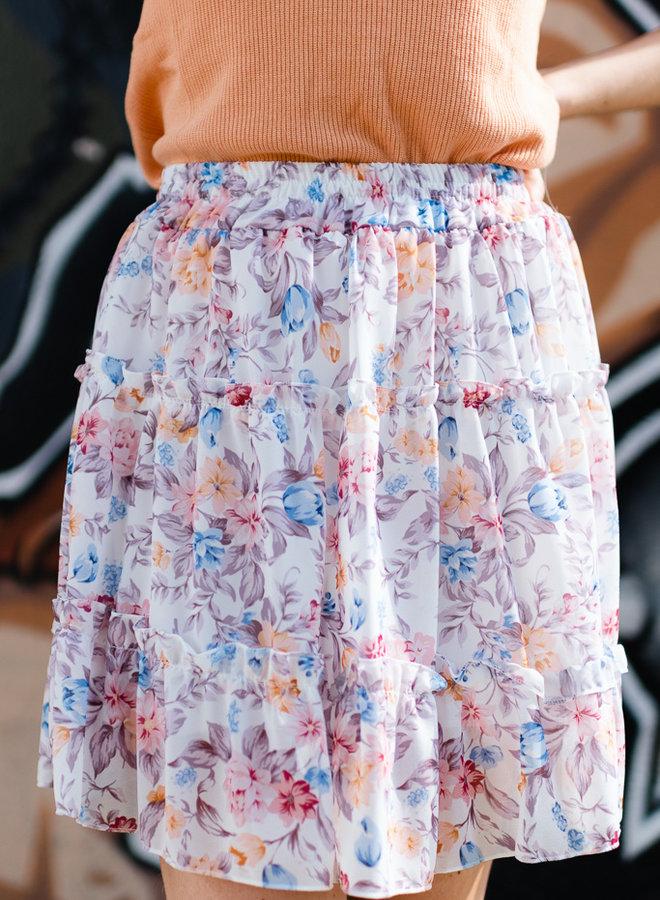 Flower Skirt White