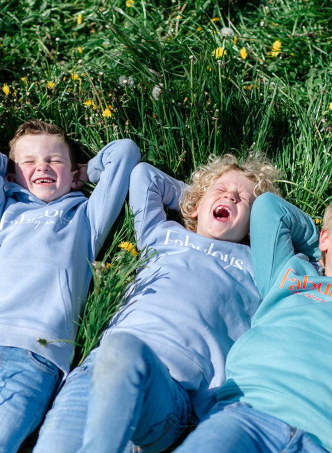 Sweater Baby Blue - White KIDS