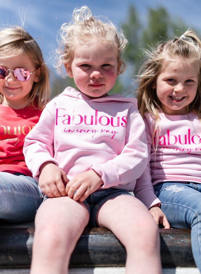 Hoodie Cotton Pink - Neon Pink KIDS