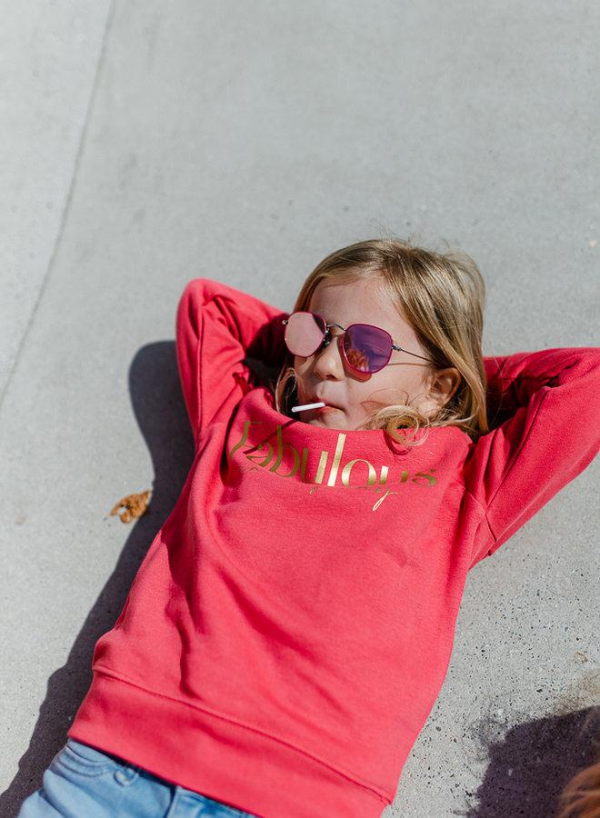 Sweater Carmine Red - Gold KIDS