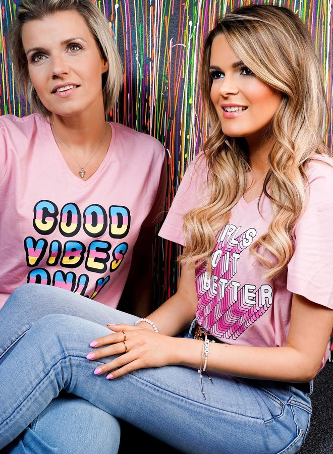 Girls Quote Tee Pink
