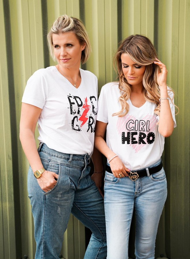 Epic Girl Quote Tee White