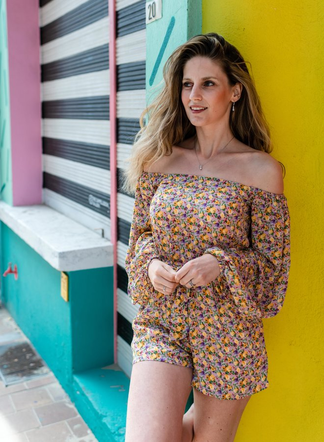 Playsuit Sienne Pink Yellow
