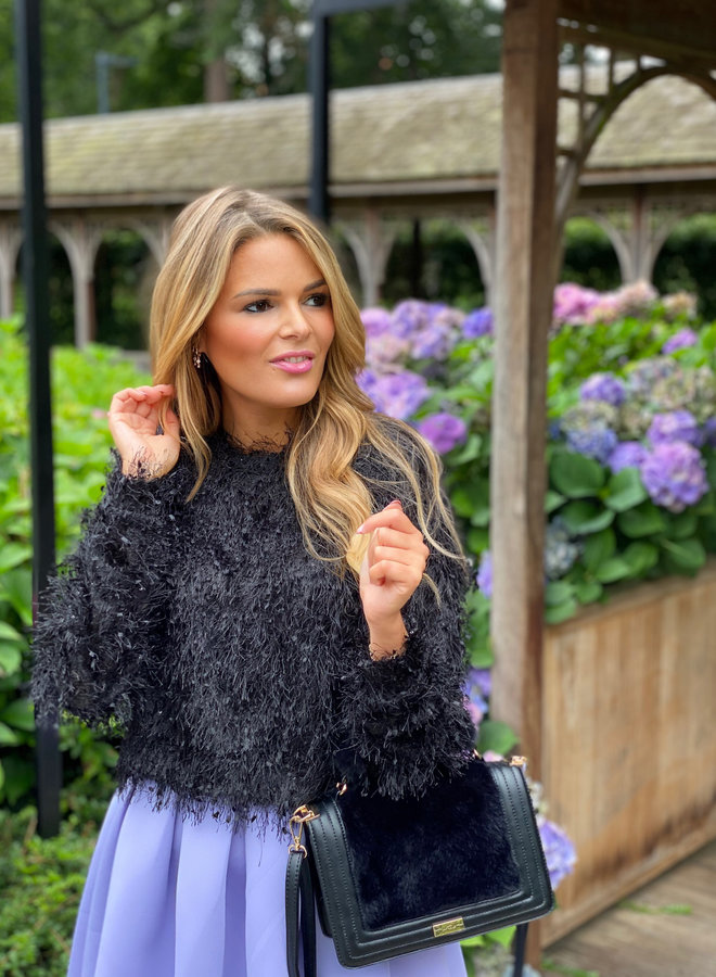 Lexie Frill Knit Black