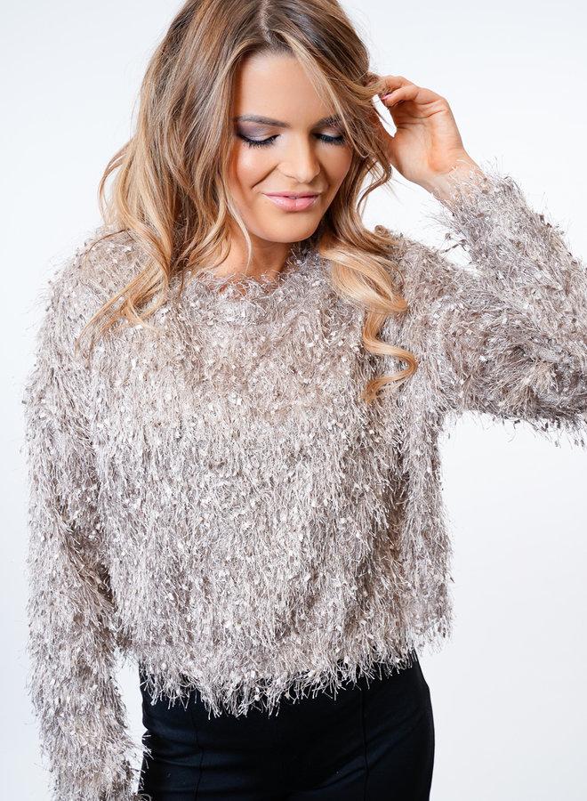 Lexie Frill Knit Beige