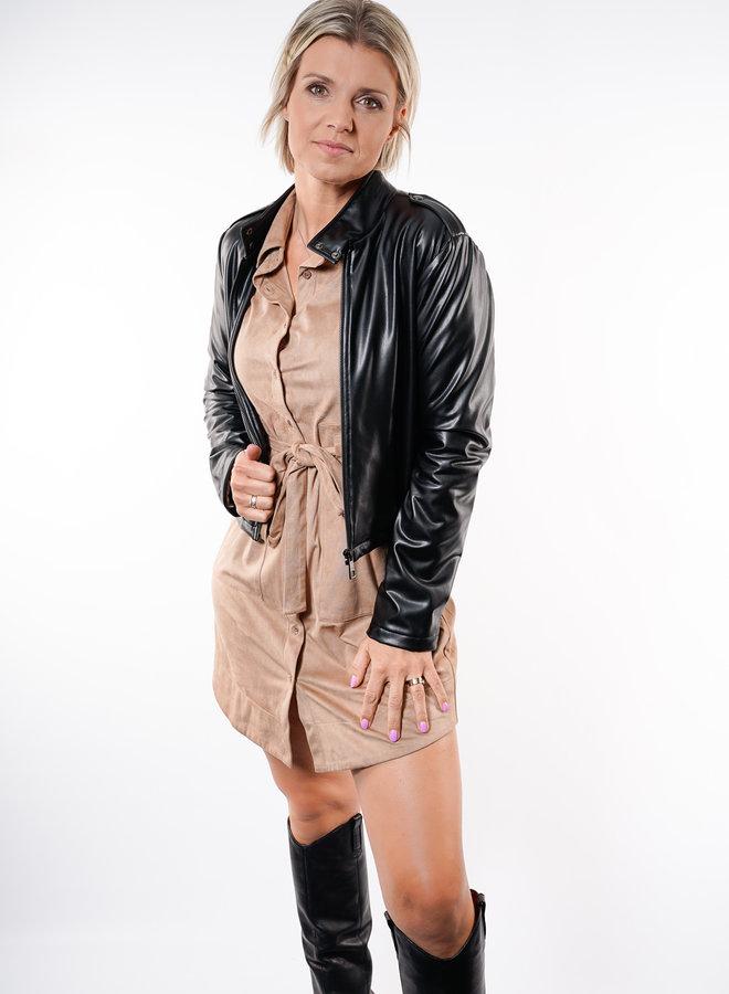 Jovie PU Jacket Black