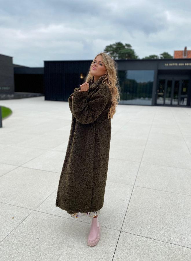 Naya Teddy Coat Khaki