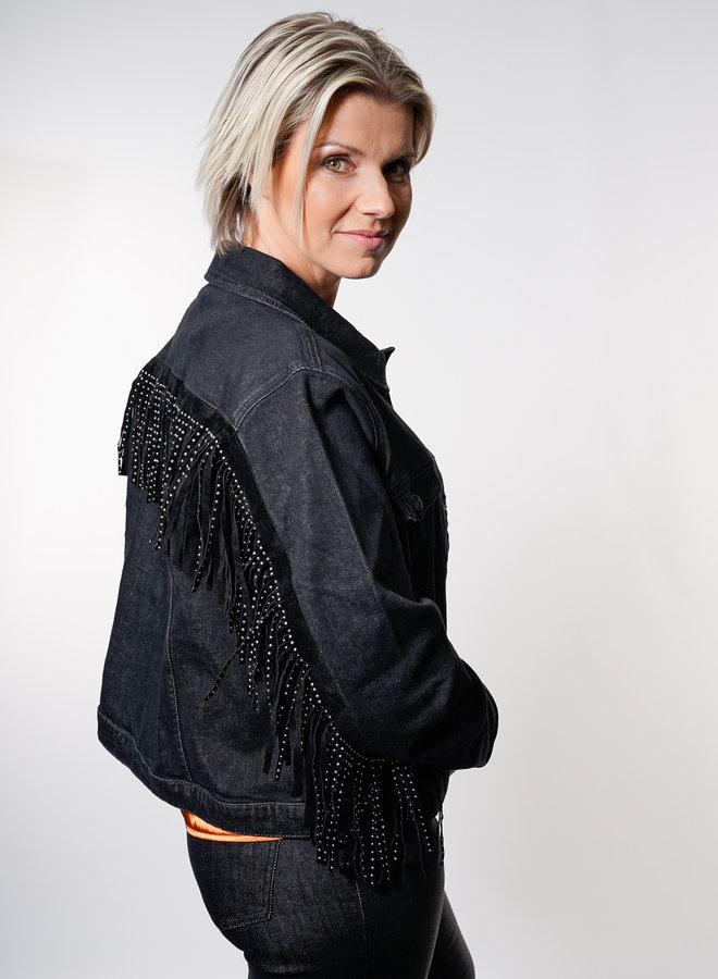 Lova Frill Jacket Black