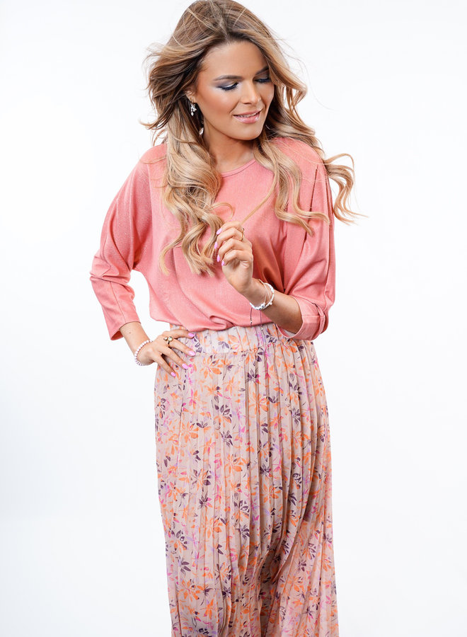Raina Blouse Pink Glitter TU