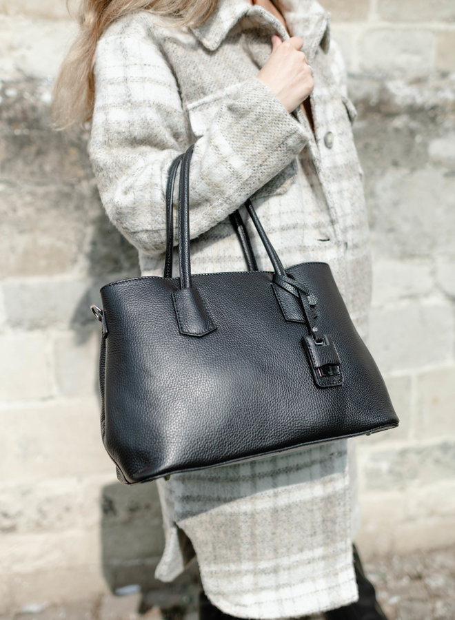 Hadley Leather Bag Black