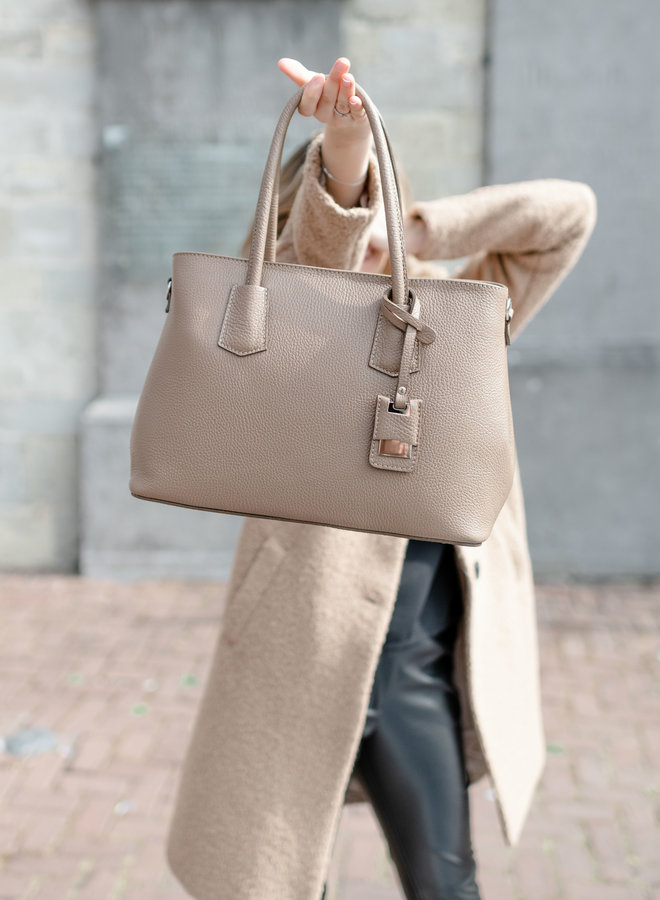 Hadley Leather Bag Taupe