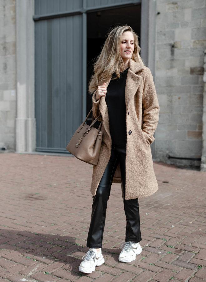 Luna Teddy Coat Camel