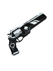 DESTINY - Exotic Ace of Spades gun - White