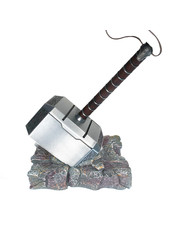Otaku Ninja Hero THOR - Full METAL Mjolnir Hammer + Base