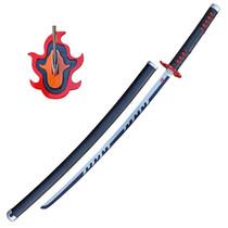 (PRE-ORDER) DEMON SLAYER - Tanjiro Kamado v2 - Vuuradem - Zwarte Nichirin Blade (Beschikbaar eind juli)