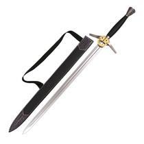 De Witcher TV Serie - Zilveren zwaard van Geralt - Lederen schede