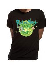 T-SHIRT - Rick and Morty - Portal Black
