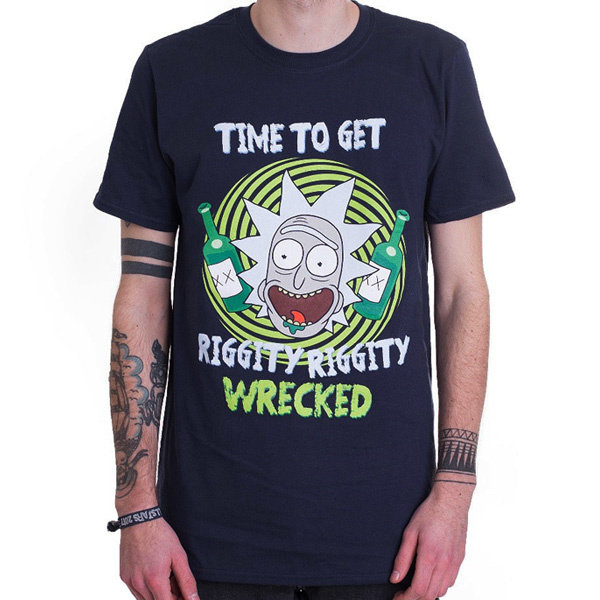 T-SHIRT - Rick und Morty - Riggity Wrecked