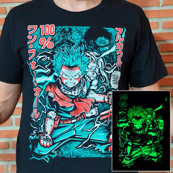 T-SHIRT - Hero Academia - Deku - Glow in the Dark