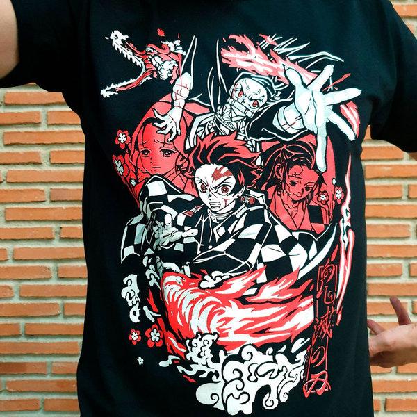 T-SHIRT - Demon Slayer - Tanjiro and Nezuko - Fire