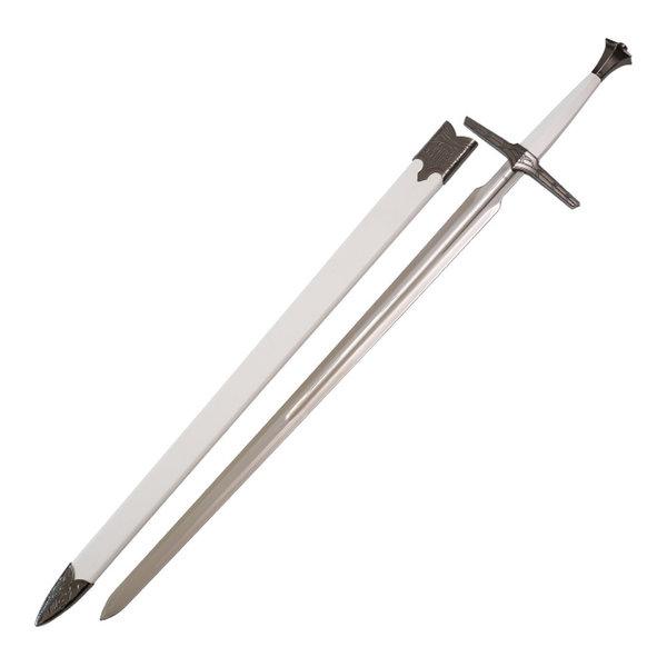 The Witcher TV-Serie - Weißes Stahlschwert von Geralt - Harte Scheide