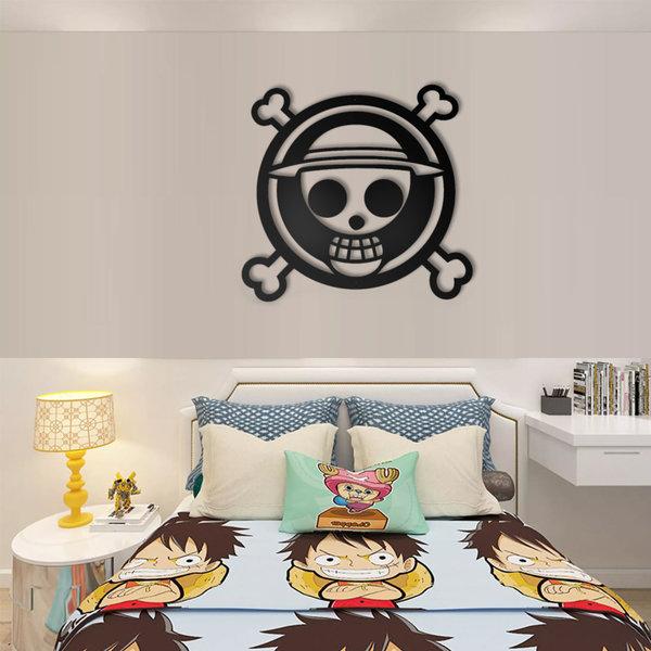 ONE PIECE - Luffy - Strohoed Piraten - Metalen Muurdecoratie 60cm