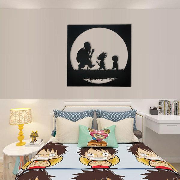 DRAGON BALL - Goku - Roshis Schildkröt Schule - Metall Wanddekoration 60cm