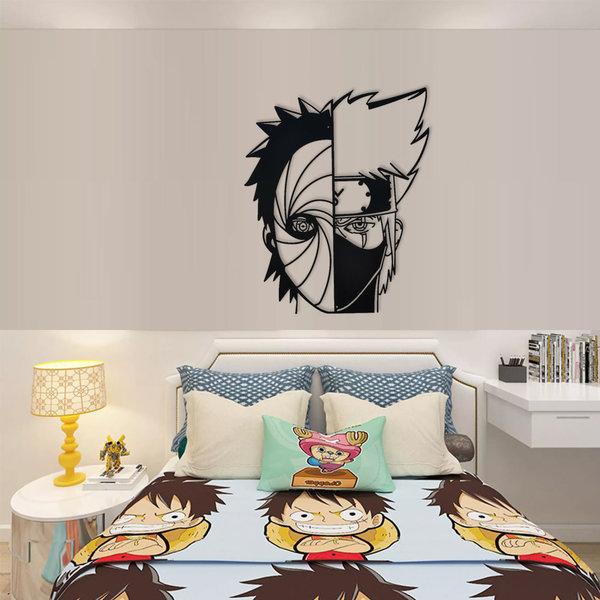 Naruto - Obito vs Kakashi - Metall Wanddekoration 60cm
