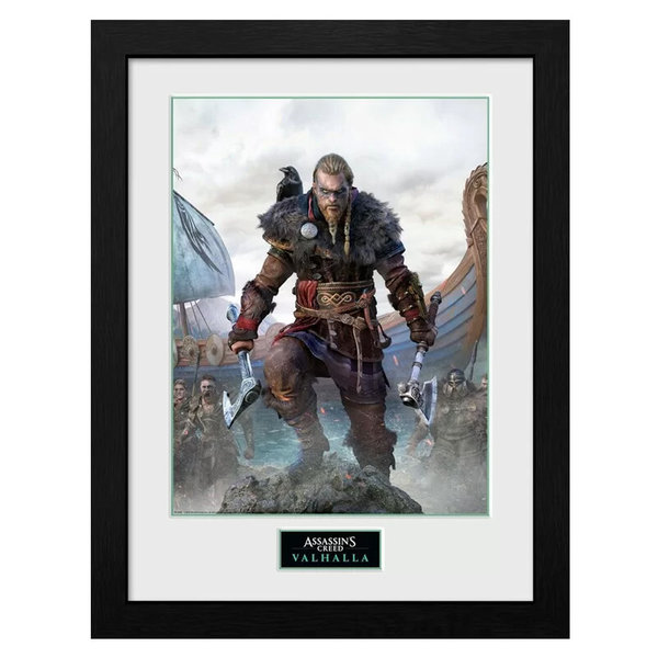 GB Eye Assassins Creed Valhalla - Tirage collector - Poster encadré