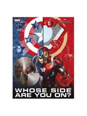 SD Toys MARVEL - Captain America vs Iron Man - Civil War - Poster en verre