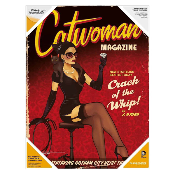 SD Toys DC Bombshells - Catwoman - Glasposter