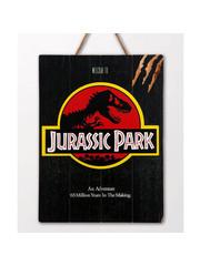 Doctor Collector Jurassic Park - WoodArts 3D - Houten wanddecoratie Logo 30 x 40 cm