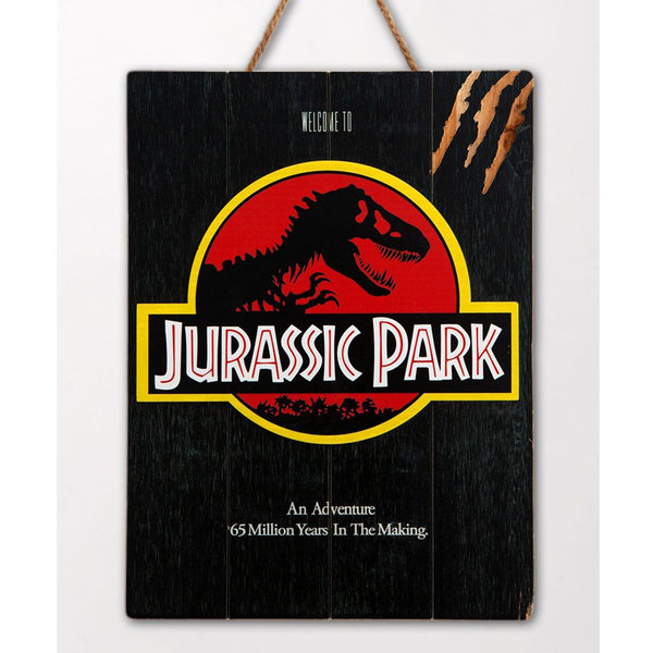 Doctor Collector Jurassic Park - WoodArts 3D - Wooden Wall Art Logo 30 x 40 cm