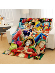 Couverture double face One Piece - Crew vs Luffy x Teach x Aokiji - 185x145 cm