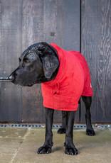 Dog Drying Coat - Brick Red