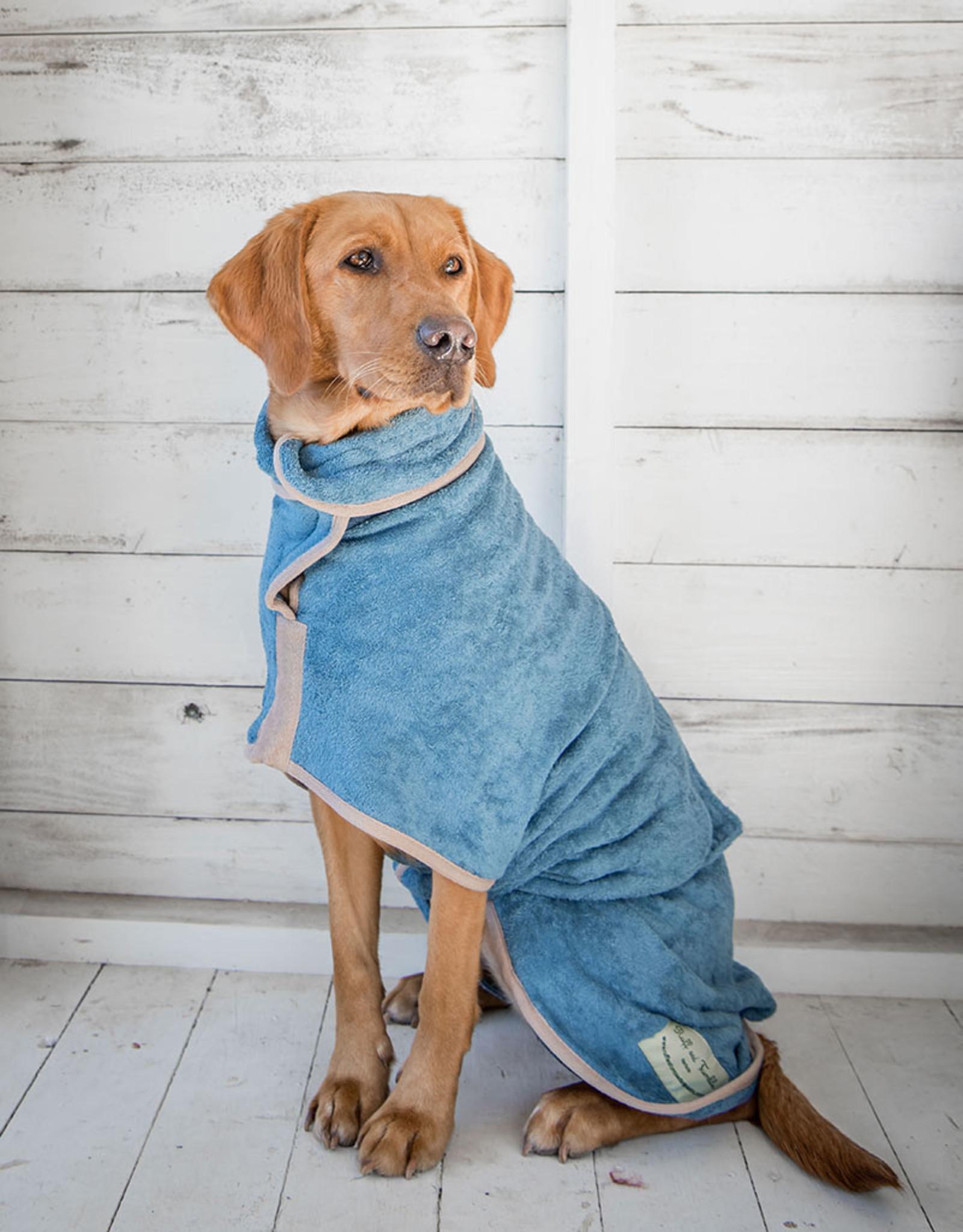 Dog Drying Coat - Sandringham Blue