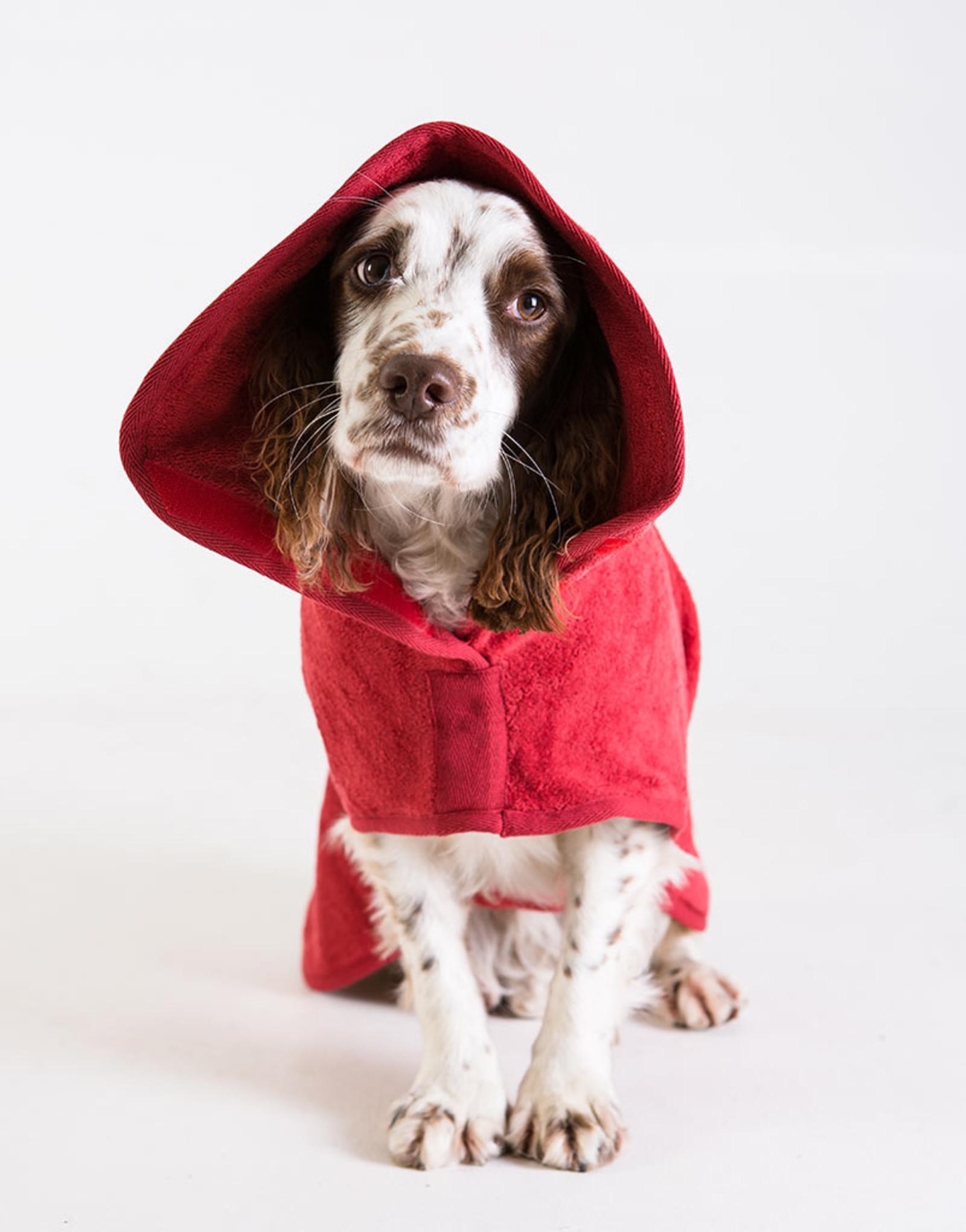 Hondenbadjas - Cadmiumrood